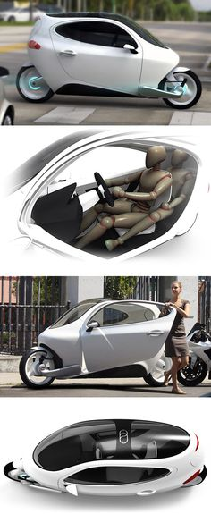 C-1 Electric Vehicle // Is it a motorcycle? Is it a car? Yes to both.