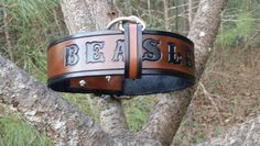 Our Classic Lines Leather Dog Collar with Custom Failsafe / Tether