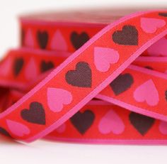 woven ribbon hearts on Etsy, $2.27 CAD
