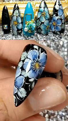 beauty Nails green - 20 Beautiful Nail Art Designs, Nail Design & Art Ideas and Manicure Girls Nail Designs, Neon Nail Designs, Nail Art Designs Videos, Nail Design Video, Nail Art Videos, Winter Nail Designs, Nails Design, New Nail Art, Ombre Nail Art