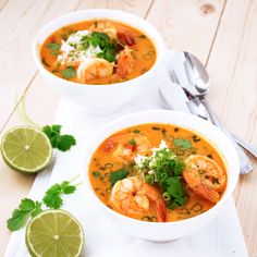 This recipe for Thai Shrimp Soup is paleo, Whole30, and only takes 30 minutes to make! It's full of delicious flavors, comforting, and satisfying.
