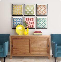 geometric wall art :: loving the colors