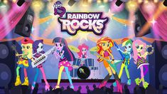 Image result for My Little pony rainbow rocks netflix