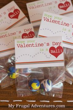 Fun and free noncandy Valentine's Day printable- bouncy balls are always a hit with kids!