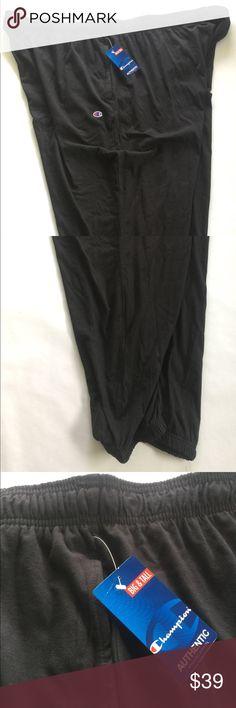 Champion Sweat Pants Big & Tall 6XL Jogger leg Champion Brand Authentic Big & Tall Size 6XL Jogger Leg Sweatpants. Brand new with tags. Black. Shipping same day or next day! Champion Pants Sweatpants & Joggers