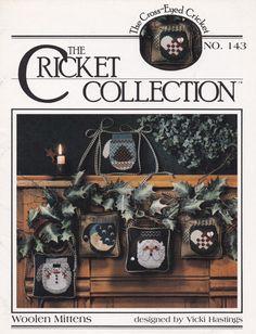Woolen Mittens, The Cross Eyed Cricket Christmas Cross Stitch Leaflet 143