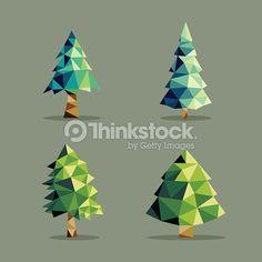 geometric pine tree - Google Search