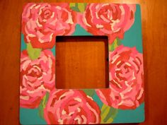 lilly print picture frame