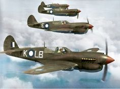 RAAF P-40 Kittyhawks of No. 84 Squadron