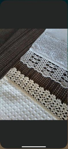 Crochet Edging Patterns, Crochet Lace Edging, Crochet Borders, Filet Crochet, Knit Edge, Bag Pattern Free, Crochet Decoration, Crochet Projects, Needlework