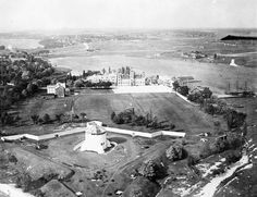 Royal Military College of Canada from the air Copyright belongs to the Crown ; Department of National Defence / Library and Archives Canada / ecopy Kingston Ontario, The Crown, Canada, College, Military, Outdoor, Image, Outdoors, University