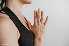 Sporty woman in Anjali Mudra pose | premium image by rawpixel.com / McKinsey