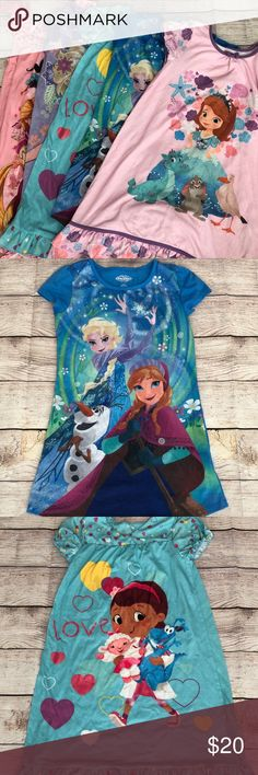 Disney Frozen or Repunzel Short Sleeve T Shirt NWT 2T  Aqua