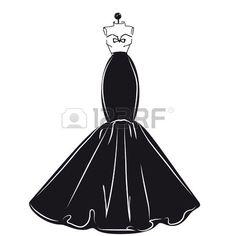 principessa vintage: disegno del vestito Vettoriali