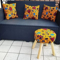 2018 Ankara Inspired Home Decoration Ideas ankara styles,latest ankara styles 2018 for ladies,ankara Baby Furniture Sets, Furniture Direct, Furniture Outlet, African Interior Design, African Design, African Furniture, African House, African Home Decor, Outside Furniture