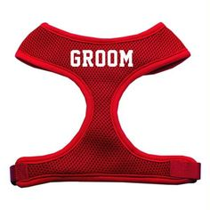Groom Screen Print Soft Mesh Harness Red Extra Large