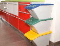 Papelera reciclaje 2 cubos la oca la tienda de for Cubo basura extraible ikea