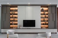Gallery of House of the Second Narration / RDMA - 17 Tv Cabinet Design, Tv Wall Design, Apartment Interior, Interior Design Living Room, Living Room Decor, Living Room Tv Unit Designs, Tv Wall Decor, Regal Design, Modern Interior Design