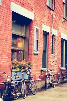 Bicycles outside of Café Santropol in Montreal Quebec Montreal, Montreal Ville, Quebec City, Westminster, The Places Youll Go, Places To See, Ottawa, Beautiful World, Beautiful Places
