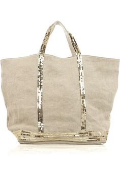 Vanessa Bruno | Grand Cabas canvas sequin tote | NET-A-PORTER.COM