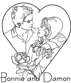 Vampire diaries coloring pages kyrsten vogts pinterest - Vampire diaries dessin ...