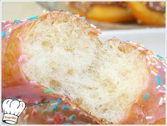 ΠΕΝΤΑΝΟΣΤΙΜΑ ΣΠΙΤΙΚΑ ΝΤΟΝΑΤΣ!!! - Νόστιμες συνταγές της Γωγώς! Donuts, Bread, Recipes, Food, Frost Donuts, Beignets, Brot, Recipies, Essen