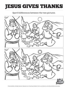 Matthew 11 Jesus Gives Thanks Kids Spot The Differences Can You Difference