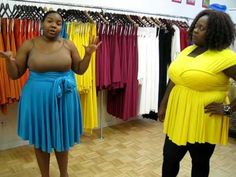 Monif C. Plus Sizes Marilyn Convertible Dress Video #3 Part 1