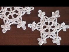 How to crochet scarf VERY EASY Snowflake motif Step by step Tutorial Part 1 - YouTube