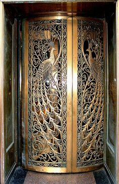 Gorgeous peacock metal doors