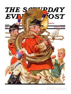 "Giclee Print: ""Fourth of July Parade,"" Saturday Evening Post Cover, July 1933 by Joseph Christian Leyendecker : The Saturdays, Jc Leyendecker, Saturday Evening Post, American Illustration, Norman Rockwell, Traditional Paintings, Fourth Of July, July 1, Vintage Magazines"