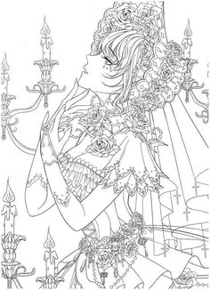 Wedding Coloring Pages, Cute Coloring Pages, Coloring Books, Anime Lineart, Free Adult Coloring, Unicorn Pictures, Mushroom Art, Vintage Paper Dolls, Colorful Pictures