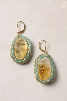 Solar Halo earrings (citrine center outlined with apatite) Maybe on Ebay?