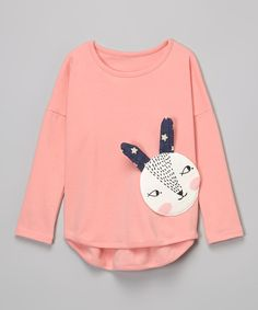 Look at this Pink Bunny Tee - Infant, Toddler & Girls on #zulily today!