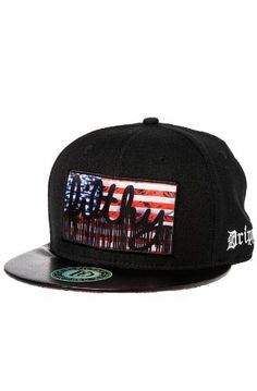 Filthy Men s Filthy Flag Faux Leather Brim Snapback One Size Black  Filthy f8c21ad9689b