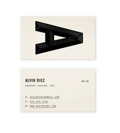 Alvin Diec Biz Card #alvin #business #card #diec #identity