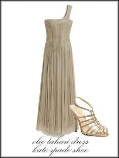 Elie Tahari Roberta dress, $798Elie Tahari Boutiques, NYC, 212.334.4441    Kate Spade Poppy heels, $325katespade.com