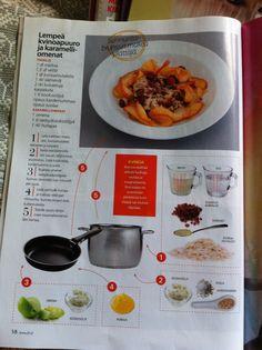 Lempeä kvinoapuuro ja karamelliomenat