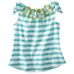 Genuine Kids from OshKosh™ Infant Toddler Girls Sleeveless Stripe Top - Turquoise
