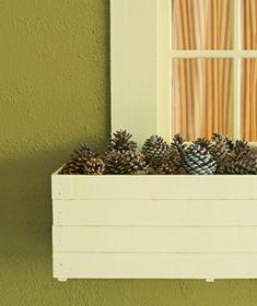 Pine ones as flower box filler