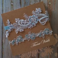 Wedding garter setlight blue GarterRhinestone blue by taraveils