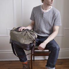 Jones canvas duffel bag :}