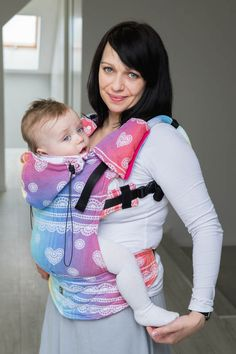 Ergonomic Carrier, Toddler Size, jacquard weave 100% cotton - wrap conversion from RAINBOW LACE - Second Generation (grade B)