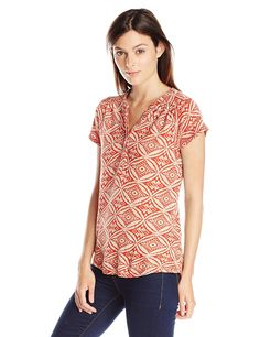 Lucky Brand Women's Ikat Circles Top *** This is an Amazon Affiliate link. To view further for this item, visit the image link.