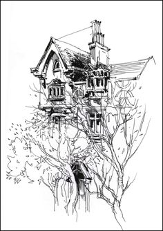 sketching Cow Hollow… by Marc Taro Holmes