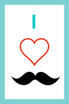 Mustache Bash Party Poster Set by CellarMore on Etsy