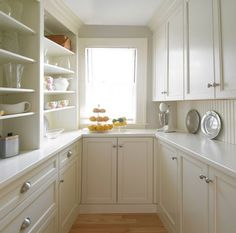 walk in pantry on left side and back and I would have to put the laundry on the right side along with the water heater.