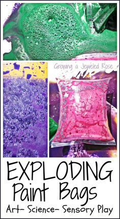 Exploding Art- Paint Bags ~ Growing A Jeweled Rose - maybe for bonfire night pictures