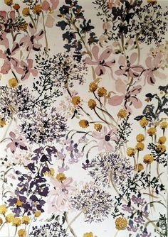 Lourdes Sanchez untitled flowers 6 2013 watercolor by esmeralda Pretty Patterns, Beautiful Patterns, Color Patterns, Textile Prints, Textile Patterns, Textiles, Motif Floral, Floral Prints, Background Vintage