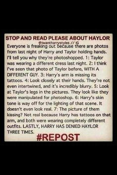 Ohh..... I love this!!! I DO NOT ship Haylor. Although we should respect the boys and their decisions